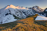 Ruth Mountain (7115 ft / 2169 m) and Mount Shuksan (9131 feet, 2783 meters) North Cascades Washington beauty in nature