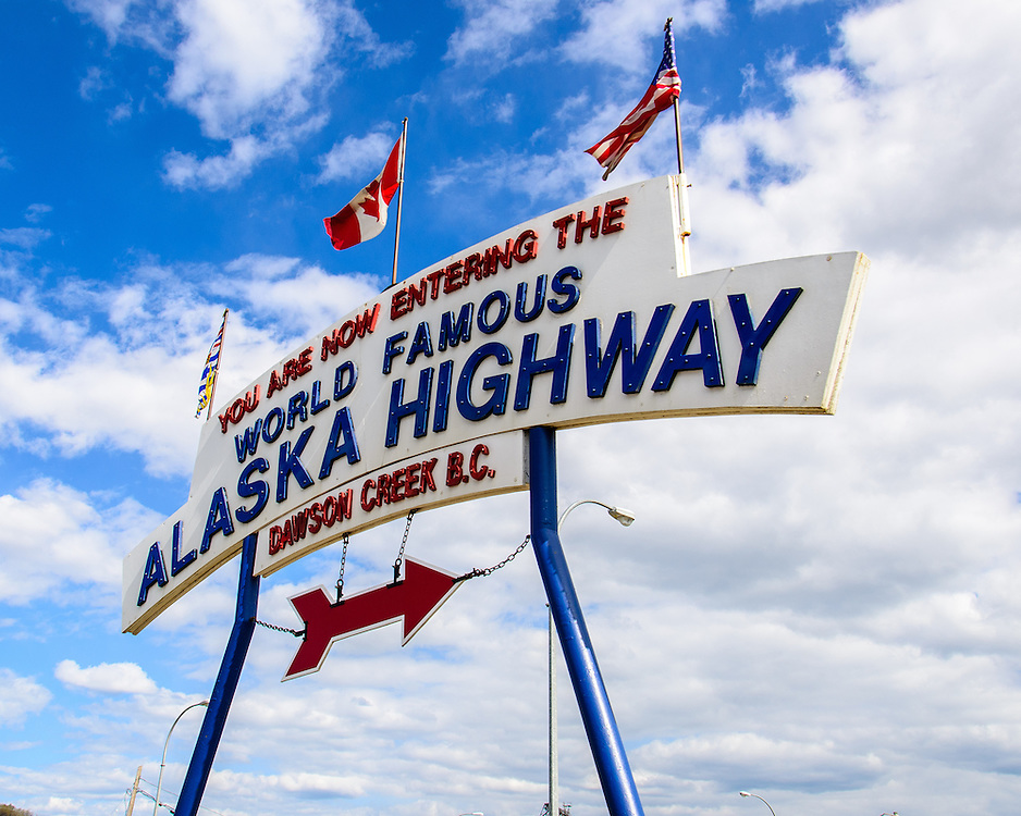 Alaska Highway Beginning.Dawson Creek, BC, Canada.Milepost Pg 135