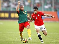 Fotball<br /> Afrika mesterskapet 2008<br /> Foto: DPPI/Digitalsport<br /> NORWAY ONLY<br /> <br /> FOOTBALL - AFRICAN CUP OF NATIONS 2008 - QUALIFYING ROUND - GROUP C - 22/01/2008 - EGYPT v CAMEROON - JOEL EPALLE (CAM) /ABDEL HOSNI (EGY)<br /> <br /> Egypt v Kamerun