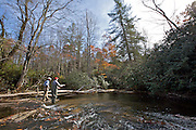 Fly Fishing The French Broad River - Blue Mountains Near Asheville - North Carolina - USA