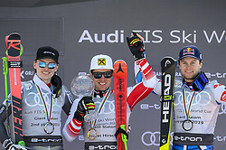 March 16, 2019 - El Tarter, Andorra - (L to R) Henrik Kristoffersen, Marcel Hirscher and Alexi Pinturault, during Men's Giant Slalom Audi FIS Ski World Cup podium, on March 16, 2019 in El Tarter, Andorra. (Credit Image: © Joan Cros/NurPhoto via ZUMA Press)