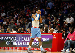 January 27, 2019 - Los Angeles, CA, U.S. - LOS ANGELES, CA - JANUARY 27: Sacramento Kings guard Buddy Hield (24) reacts after losing to the Los Angeles Clippers 122-108 on January 27, 2019, at Staples Center in Los Angeles, CA. (Photo by Adam  Davis/Icon Sportswire) (Credit Image: © Adam Davis/Icon SMI via ZUMA Press)