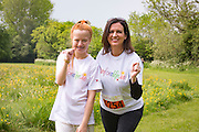NO FEE PICTURES<br /> 28/5/16 RTE's Vivienne Traynor, ambassador for Organ Donor Awareness 2016 with Michaela Delany, age 16, Clondalkin, who is waiting for her second kindney transplant,  at the Irish Kidney Association's Run For Life in support of Organ Donation at Corkagh Park in Dublin. Pictures:Arthur Carron