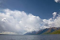 """Thunderstorm, Jackson Lake, Grand Tetons, Grand Teton National Park<br /> <br /> For production prints or stock photos click the Purchase Print/License Photo Button in upper Right; for Fine Art """"Custom Prints"""" contact Daryl - 208-709-3250 or dh@greater-yellowstone.com"""
