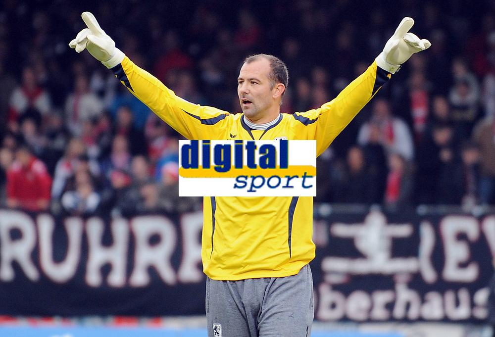 Fotball<br /> Tyskland<br /> 17.10.2010<br /> Foto: Witters/Digitalsport<br /> NORWAY ONLY<br /> <br /> Torwart Gabor Kiraly (Muenchen)<br /> <br /> 2. Bundesliga, Rot-Weiss Oberhausen - TSV 1860 München