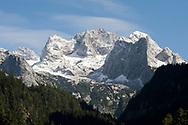 Hohe Dachstein, viewed from the hiking trail between Vorderer Gosausee and Hinterer Gosausee, Dachstein, Salzkammergut, Austria © Rudolf Abraham