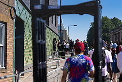 There is a heavy police presence with random stop-and-search on Day two of the Notting Hill Carnival in West London in what is known as Europe's biggest Street Party. London, August 26 2019.