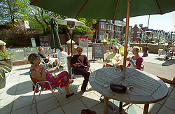 Alfresco drinking at Bar Belize in Jesmond; an affluent suburb of Newcastle upon Tyne; UK