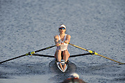Eton, United Kingdom.   Women's single scull, Anna WATKINS, move away from the start at the 2012 GB Rowing Senior Trials, Dorney Lake. Nr Windsor, Berks.  Saturday  10/03/2012  [Mandatory Credit; Peter Spurrier/Intersport-images]