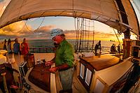 Aboard the Schooner Western Union for a sunset cruise off Key West, Florida Keys, Florida USA