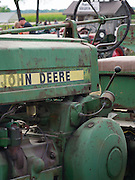 Closeup view of an old John Deere Tractor; Rock River Thresheree, Edgerton, Wisconsin; 2 Sept 2013