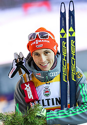 19.02.2016, Salpausselkae Stadion, Lahti, FIN, FIS Weltcup Nordische Kombination, Lahti, Langlauf, im Bild Sieger Eric Frenzel (GER) // Winner Eric Frenzel of Germany competes during Cross Country Gundersen Race of FIS Nordic Combined World Cup, Lahti Ski Games at the Salpausselkae Stadium in Lahti, Finland on 2016/02/19. EXPA Pictures © 2016, PhotoCredit: EXPA/ JFK