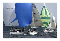 Bell Lawrie Scottish Series 2008. Fine North Easterly winds brought perfect racing conditions in this years event..Class 2 Downwind GBR1433R Salamander XX and IRL 3550 Exaltation