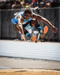 adidas Grand Prix Diamond League Track & Field: mens triple jump, Omar Craddock, USA, Nike