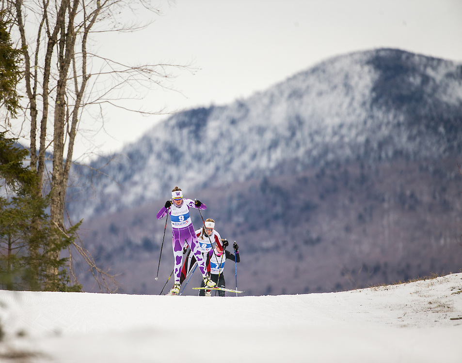 Eliza Rorabaugh of Williams College, during the Williams Carnival 10km Freestyle on Friday February 19, 2016 in Lake Placid, NY. (Dustin Satloff)