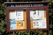 Community parish notice board, Shottisham, Suffolk, England