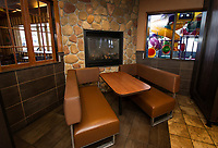 McDonald's North Conway location fireplace, gondola and exterior.  ©2018 Karen Bobotas Photographer