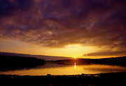 Stormy sunrise on Bay Springs Lake - Mississippi