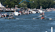 """Henley on Thames, United Kingdom, 8th July 2018, Sunday, Final, """"The Grand Challenge Cup"""", left, """"Georgina Hope Rinehart National Training Centre, Australia"""", and right, """"Clubue Sportive Dinamo, Bucuresti and Clubui Sportiv Armatei Steaua Bucuresti, Romania""""., Winners, Australia, """"Fifth day"""", of the annual,  """"Henley Royal Regatta"""", Henley Reach, River Thames, Thames Valley, England, © Peter SPURRIER,"""