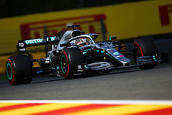 SPA-FRANCORCHAMPS, Sept. 2, 2019  Lewis Hamilton of Mercedes drives during the Formula 1 Belgian Grand Prix at Spa-Francorchamps Circuit, Belgium, Sept. 1, 2019. (Credit Image: © Zheng Huansong/Xinhua via ZUMA Wire)