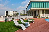 Singapour, Chinatown,  terrasse du Pinnacle@Duxton // Singapore, Chinatown, Pinnacle@Duxton terrace