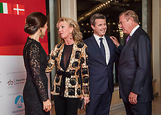 Crown princess Mary and Crown Prince Frederik attending the Grand dinner in Rome - 08 Nov 2018