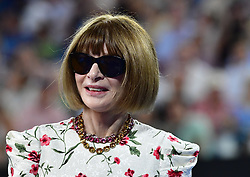 January 24, 2019 - Melbourne, Australia - Australian Open - Ana Wintour remise de prix sur le central - Grande Bretagne (Credit Image: © Panoramic via ZUMA Press)