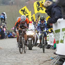 Sportfoto archief 2013<br /> Tour of Flanders women Paterberg Adrie Visser, Loes Gunnewijk