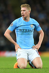 17th October 2017 - UEFA Champions League - Group F - Manchester City v Napoli - Kevin De Bruyne of Man City looks dejected - Photo: Simon Stacpoole / Offside.