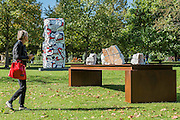Mikayel Ohanjanyan, Senza Titolo, 2016, <br /> Tornabuoni Art and Jean Dubuffet,<br /> Tour aux récits, (after maquette dated 19 July 1973) 1973,<br /> Waddington Custot Galleries - The Frieze Sculpture Park 2016 comprises 19 large-scale works, set in the English Gardens between Frieze Masters and Frieze London. Selected by Clare Lilley (Yorkshire Sculpture Park), the Frieze Sculpture Park will feature 19 major artists including Conrad Shawcross, Claus Oldenburg, Nairy Baghramian,Ed Herring, Goshka Macuga and Lynn Chadwick. The installations will remain on view until 8 January 2017.