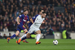 March 14, 2018 - Barcelona, Spain - EDEN HAZARD of Chelsea FC during the UEFA Champions League, round of 16, 2nd leg football match between FC Barcelona and Chelsea FC on March 14, 2018 at Camp Nou stadium in Barcelona, Spain (Credit Image: © Manuel Blondeau via ZUMA Wire)