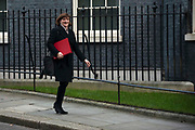 Secretary of State for Digital, Culture, Media and Sport,Baroness Morgan of Cotes leaving a cabinet meeting in Downing Street on January 21st 2020 in London, United Kingdom.