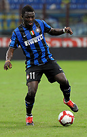 Sulley Muntari (Inter) <br /> Milano 03/10/2009 Stadio Giuseppe Meazza San Siro<br /> Inter Udinese - Anticipo del Campionato di Serie A Tim 2009-2010.<br /> Foto Giorgio Perottino / Insidefoto