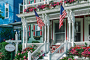 The Red Cottage Inn B & B in Cape May, New Jersey, USA.
