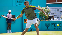Tennis - 2019 Queen's Club Fever-Tree Championships - Day One, Monday<br /> <br /> Men's Singles, First Round: Marin Cilic (CRO) Vs. Christian Garin (CHL)  <br /> <br /> Marin Cilic (CRO) opens his body as he prepares to strike the return on Centre Court.<br />  <br /> COLORSPORT/DANIEL BEARHAM