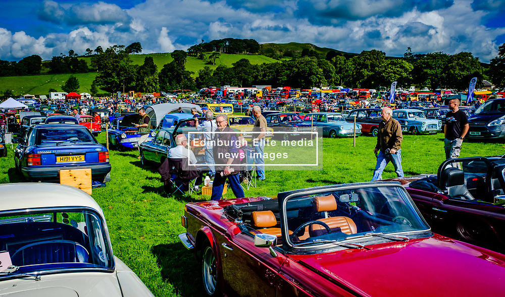 The 44th Biggar Vintage Vehicle Rally held in Biggar on 13th August 2017.  General view of the rally.<br /> <br /> (c) Andrew Wilson | Edinburgh Elite media