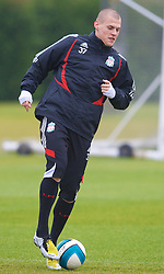 LIVERPOOL, ENGLAND - Thursday, March 20, 2008: Liverpool's Martin Skrtel training at Melwood ahead of the Premiership clash with Manchester United on Easter Sunday. (Photo by David Rawcliffe/Propaganda)