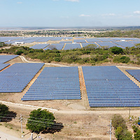 A solar energy plant in Ranchería, Choluteca.