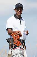 Golf - 2013 Open Championship at Muirfield - Thursday Round One<br /> Tiger Woods of USA is all smiles ahead of teeing off on the 6th
