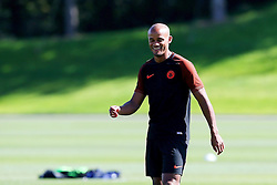 Vincent Kompany of Manchester City smiles during training - Mandatory by-line: Matt McNulty/JMP - 23/08/2016 - FOOTBALL - Manchester City - Training session ahead of Champions League qualifier against Steaua Bucharest