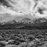 Incoming Storm Eastern Sierra - North Big Pine, CA - Black & White