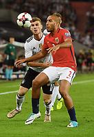 v.l. Timo Werner (Deutschland), Haitam Aleesami<br /> Stuttgart, 04.09.2017, Fussball, WM-Qualifikation,<br /> Tyskland - Norge <br /> <br /> Norway only