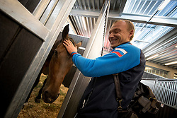 Markov Alexandr, RUS, Kurfurstin<br /> Departure of the horses to the Rio Olympics from Liege Airport - Liege 2016<br /> © Hippo Foto - Dirk Caremans<br /> 30/07/16