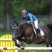 Molly Ashe riding Balous Day Date in action during the $100,000 Empire State Grand Prix presented by the Kincade Group during the Old Salem Farm Spring Horse Show, North Salem, New York,  USA. 17th May 2015. Photo Tim Clayton