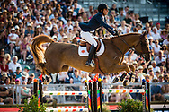 Paris, France : Pedro Veniss riding Uccello de Will during the Longines Paris Eiffel Jumping 2018, on July 5th to 7th, 2018 at the Champ de Mars in Paris, France - Photo Christophe Bricot / ProSportsImages / DPPI