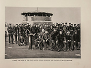 """TURRET AND CREW OF THE FIRST MONITOR WHICH DESTROYED THE CONFEDERATE RAM MERRIMACK. from The American Civil War book and Grant album : """"art immortelles"""" : a portfolio of half-tone reproductions from rare and costly photographs designed to perpetuate the memory of General Ulysses S. Grant, depicting scenes and incidents in connection with the Civil War Published  in Boston and New York by W. H. Allen in 1894"""