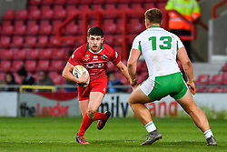 11th November 2018 , Racecourse Ground,  Wrexham, Wales ;  Rugby League World Cup Qualifier,Wales v Ireland ; Elliott Jenkins of Wales in action<br /> <br /> <br /> Credit:   Craig Thomas/Replay Images