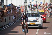 Sinkeldam van de Giant Alcepin ploeg. In Utrecht is deTour de France van start gegaan met een tijdrit. De stad was al vroeg vol met toeschouwers. Het is voor het eerst dat de Tour in Utrecht start.<br /> <br /> In Utrecht the Tour de France has started with a time trial. Early in the morning the city was crowded with spectators. It is the first time the Tour starts in Utrecht.