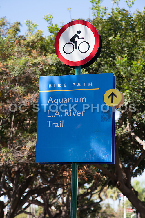 Bike Path LA River Trail In Long Beach California