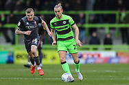 Forest Green Rovers Joseph Mills(23) runs forward during the EFL Sky Bet League 2 match between Forest Green Rovers and Lincoln City at the New Lawn, Forest Green, United Kingdom on 2 March 2019.